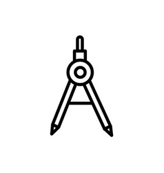 Compass geometry tool architecture icon line style vector