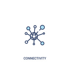 connectivity concept 2 colored icon simple line vector image