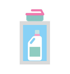 Detergent bottle with brush vector