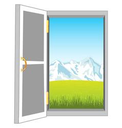 door in nature vector image