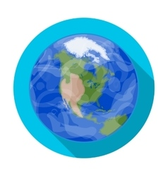 Earth icon in flat style isolated on white vector