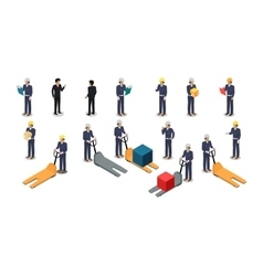 Employees Postal or Warehouse Company in Isometric vector