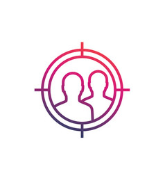 Focus group target audience marketing icon vector