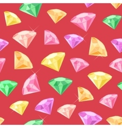 Gem Seamless Pattern vector image