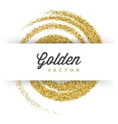 Gold Glitter Sparkles Bright Confetti white vector