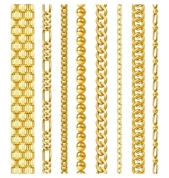 Golden Chains Set vector