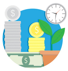 Growth finance capital icon vector
