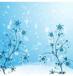 Grunge flower blue vector image