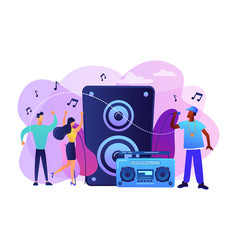 hip-hop music concept vector image