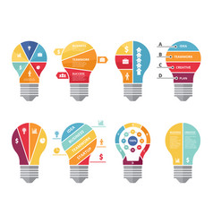 infographic concepts with shape of lighting bulb vector image