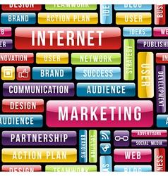 Internet Marketing tech pattern vector image