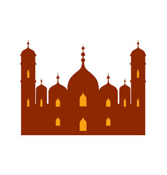 islamic mosque colorful vector image