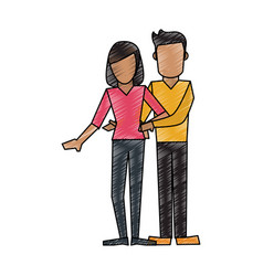 isolated couple design vector image