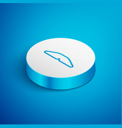 Isometric line homemade pie icon isolated on blue vector