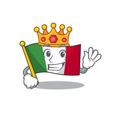 King flag italy is placed cartoon cupboard vector