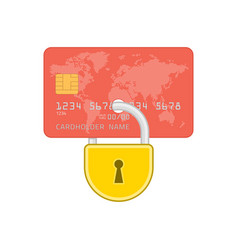 lock on credit card vector image