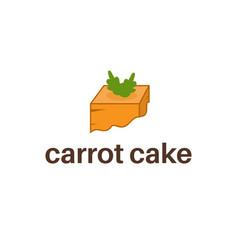 logo template design carrot cake vector image