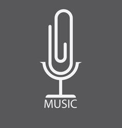 Logos music vector