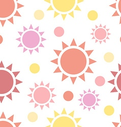 Multicolor suns seamless pattern vector image