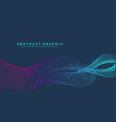 nano technologies abstract background cyber vector image