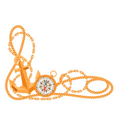 Nautical background with sailing items ropes vector