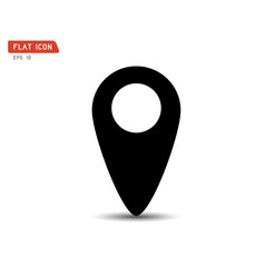 navigation icon search logo vector image