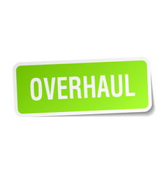 Overhaul square sticker on white vector