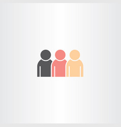 people icon design element vector image