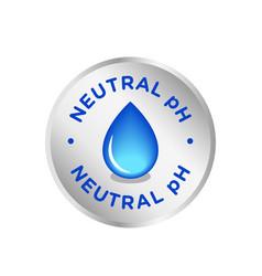 Ph neutral balance icon badge seal logo vector