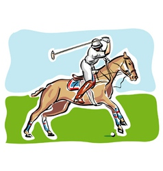 Polo player vector