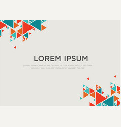 Polygon background modern design hexagon style vector