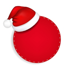 Red Speech Bubble With Santa Hat vector