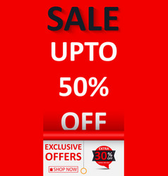 sale banner with discount vector image