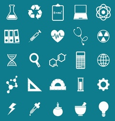 Science icons on blue background vector