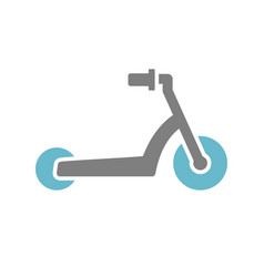 scooter icon on white background for graphic and vector image