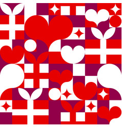 seamless pattern for happy valentines day hearts vector image