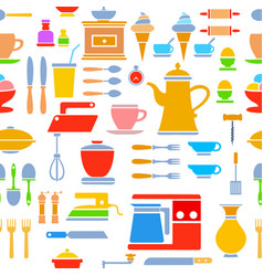 seamless tile pattern kitchen vector image