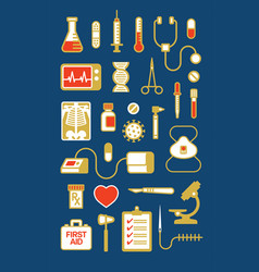 set medical icons or vector image