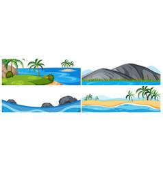 set nature seascape vector image