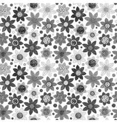 Simple floral pattern seamless background vector image