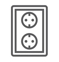 socket line icon electricity and voltage power vector image