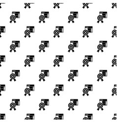 star emblem pattern seamless vector image