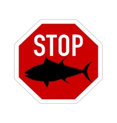 Stop sign tuna vector image