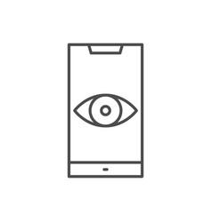 surveillance smartphone thin line icon vector image