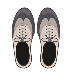 tap shoes for mens with laces vector image