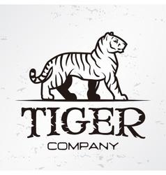 Tiger logo emblem template Brand mascot symbol vector image