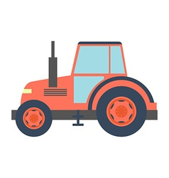 Transport flat tractor icon isolated on white vector