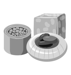 Turkish sweets icon gray monochrome style vector image