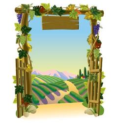Vineyard gate vector