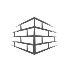 vintage brick wall vector image